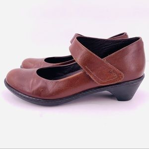Dansko Brown Leather Mary Jane Comfort Shoes